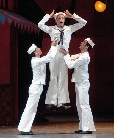 Craig Salstein, David Hallberg, and Marcelo Gomes in Fancy Free. Photo: Rosalie O'Connor.